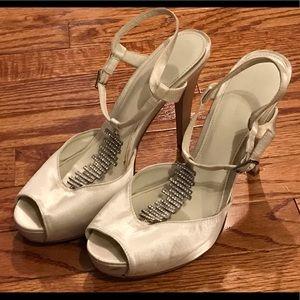 Calvin Klein satin heeled heels